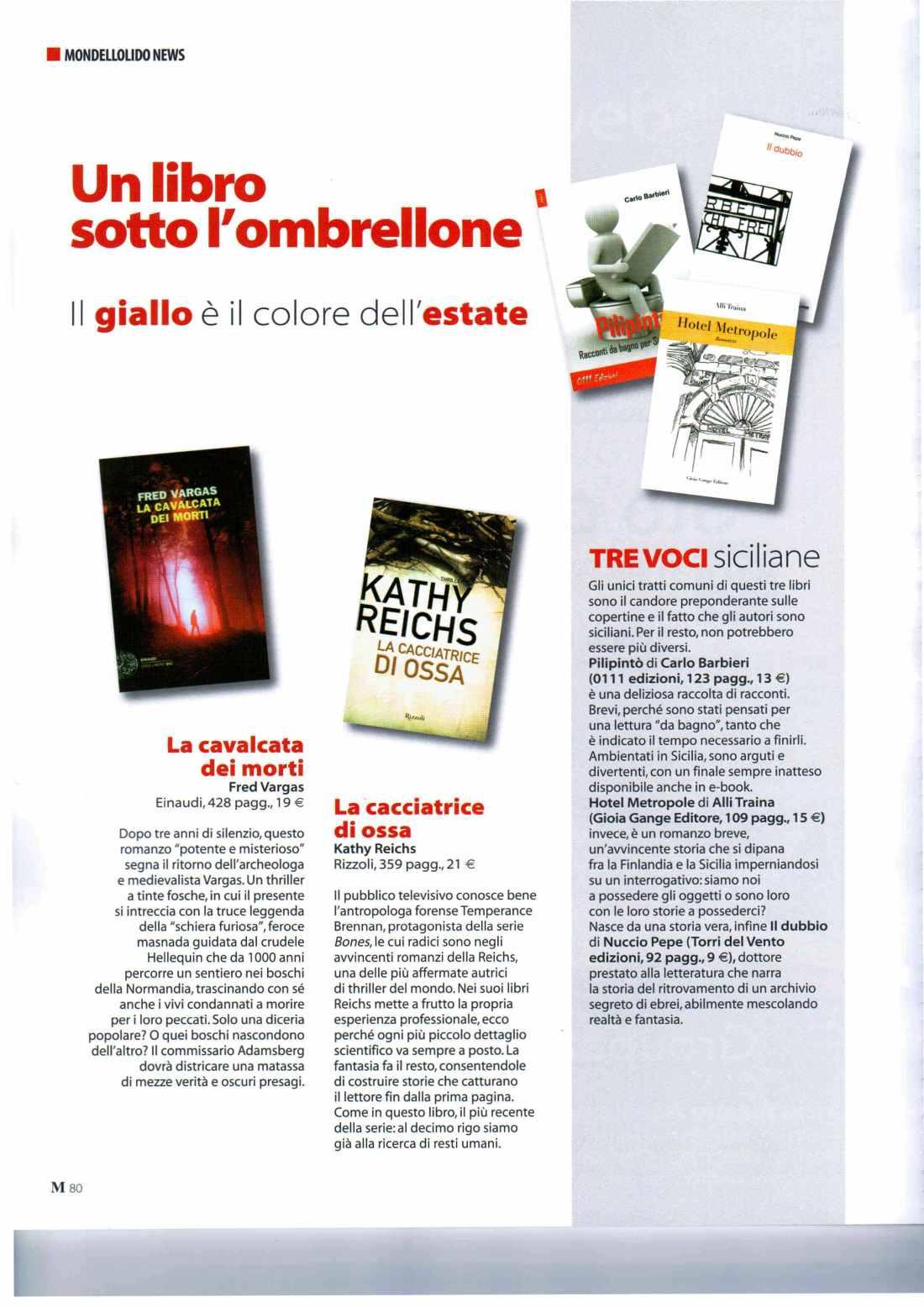Recensione Mondello News Agosto 2011
